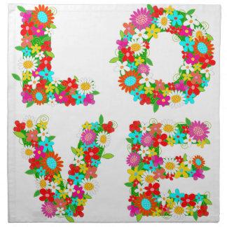 floral love napkin