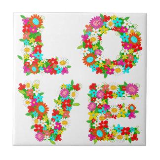 floral love tile
