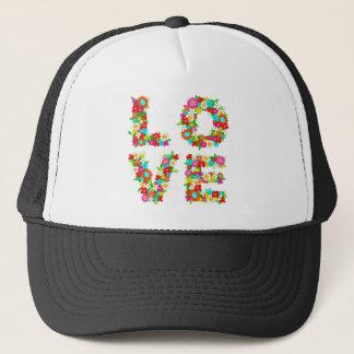 floral love trucker hat