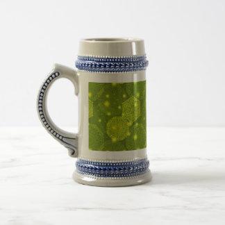 Floral luxury mandala pattern beer stein