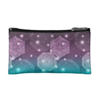 Floral luxury mandala pattern cosmetic bag