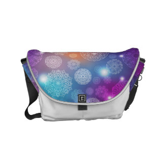 Floral luxury mandala pattern courier bags