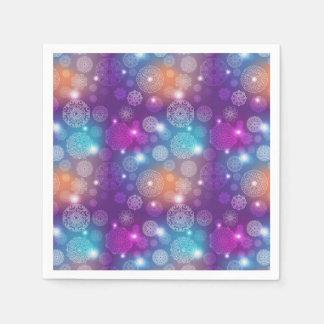 Floral luxury mandala pattern disposable napkin