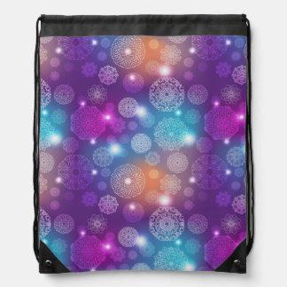 Floral luxury mandala pattern drawstring bag
