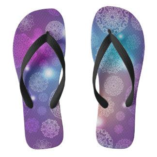 Floral luxury mandala pattern flip flops