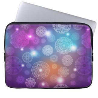 Floral luxury mandala pattern laptop sleeve