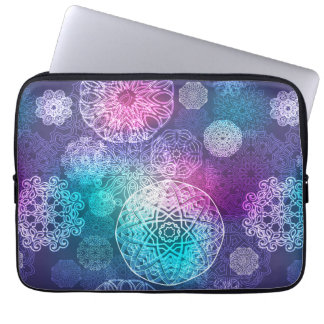 Floral luxury mandala pattern laptop sleeve