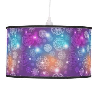 Floral luxury mandala pattern pendant lamp