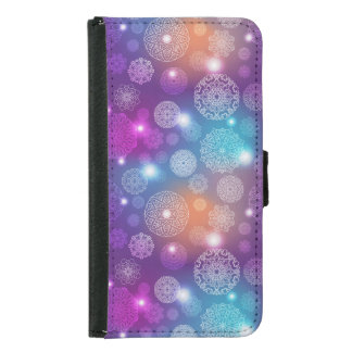 Floral luxury mandala pattern samsung galaxy s5 wallet case