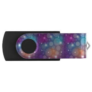 Floral luxury mandala pattern swivel USB 3.0 flash drive