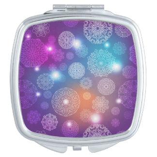 Floral luxury mandala pattern vanity mirror