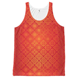 Floral luxury royal antique pattern All-Over-Print tank top