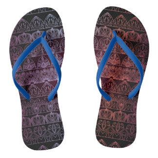Floral luxury royal antique pattern flip flops