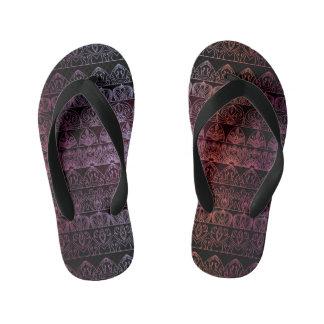 Floral luxury royal antique pattern kid's flip flops