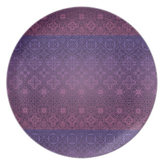 Floral luxury royal antique pattern plate