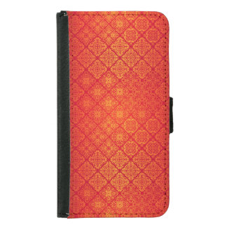 Floral luxury royal antique pattern samsung galaxy s5 wallet case
