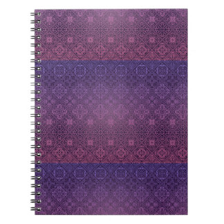 Floral luxury royal antique pattern spiral notebook