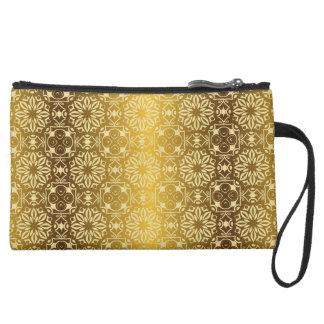 Floral luxury royal antique pattern wristlet purse