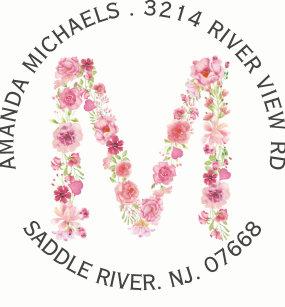 Pink Letter M Stickers   Zazzle CA