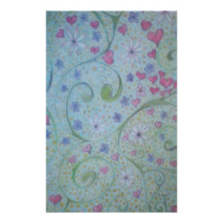floral magic of love and creation sketch stationery design