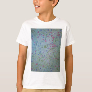 floral magic of love and creation sketch T-Shirt