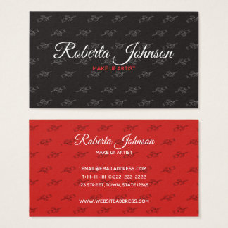 Floral Makeup Artist Fashion Stylist Salon Moda Business Card