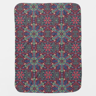 Floral mandala abstract pattern design baby blanket