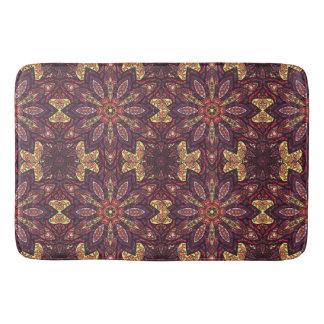 Floral mandala abstract pattern design bath mat