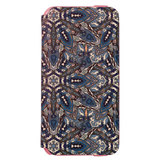 Floral mandala abstract pattern design by Somberla Incipio Watson™ iPhone 6 Wallet Case
