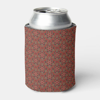 Floral mandala abstract pattern design can cooler