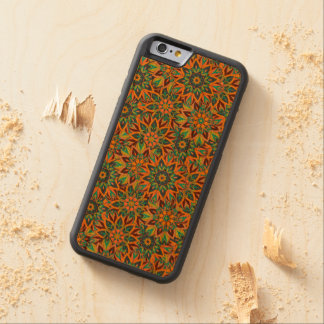 Floral mandala abstract pattern design carved cherry iPhone 6 bumper case