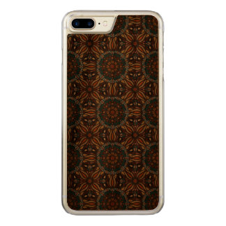 Floral mandala abstract pattern design carved iPhone 8 plus/7 plus case