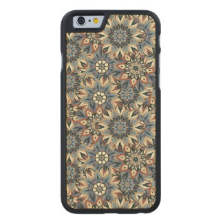 Floral mandala abstract pattern design carved® maple iPhone 6 case