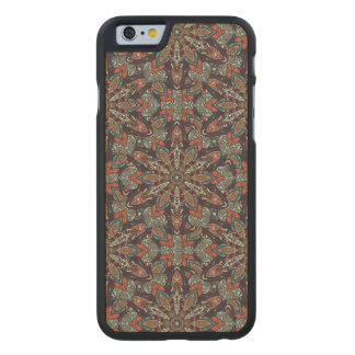 Floral mandala abstract pattern design carved® maple iPhone 6 slim case