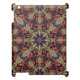 Floral mandala abstract pattern design case for the iPad
