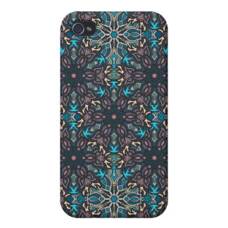 Floral mandala abstract pattern design case for the iPhone 4
