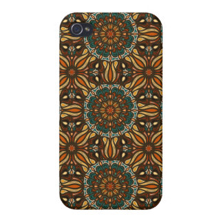 Floral mandala abstract pattern design cases for iPhone 4
