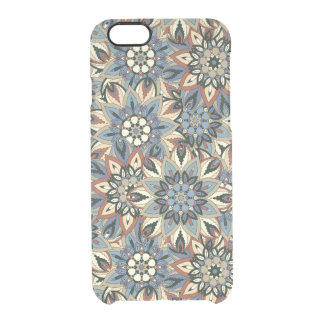 Floral mandala abstract pattern design clear iPhone 6/6S case
