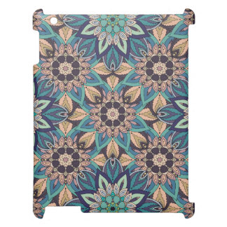 Floral mandala abstract pattern design cover for the iPad