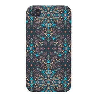 Floral mandala abstract pattern design covers for iPhone 4