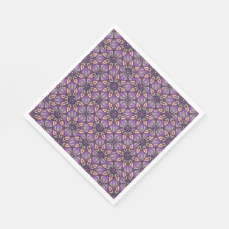 Floral mandala abstract pattern design disposable napkin