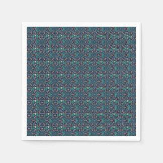 Floral mandala abstract pattern design disposable napkins