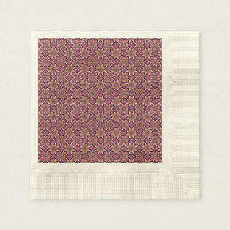 Floral mandala abstract pattern design disposable napkins
