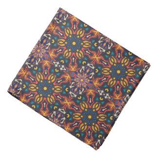 Floral mandala abstract pattern design head kerchiefs