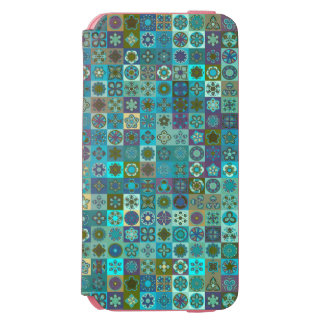 Floral mandala abstract pattern design incipio watson™ iPhone 6 wallet case