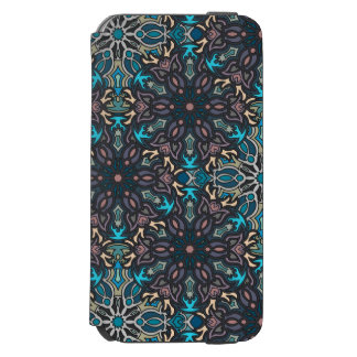 Floral mandala abstract pattern design incipio watson™ iPhone 6 wallet case