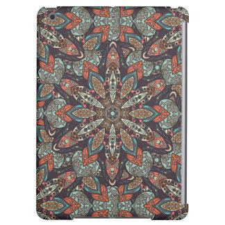 Floral mandala abstract pattern design iPad air case