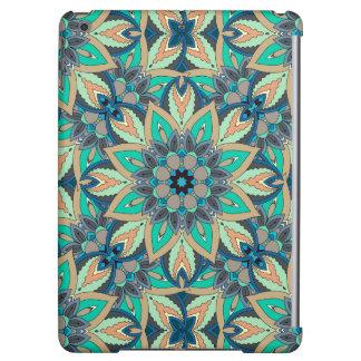 Floral mandala abstract pattern design iPad air case