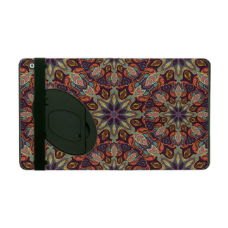 Floral mandala abstract pattern design iPad case