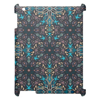 Floral mandala abstract pattern design iPad cases